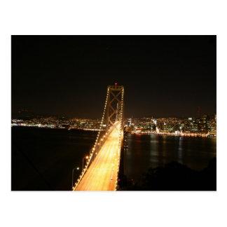 Bay Bridge at Night Post Cards