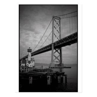 Bay Bridge BW 2 Postcard