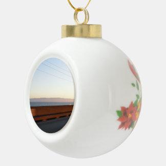 Bay Bridge Ceramic Ball Christmas Ornament