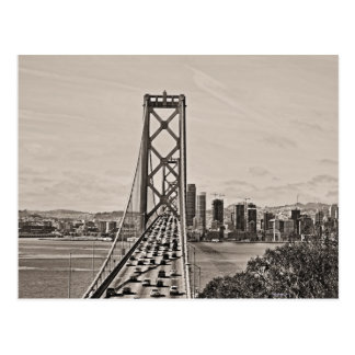 Bay Bridge  From Above Postcard