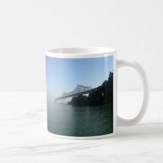 Bay Bridge from Clipper Cove, San Francisco, CA Classic White Coffee Mug