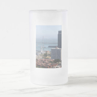 Bay Bridge Frosted Glass Beer Mug