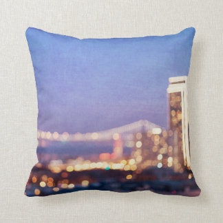 Bay Bridge Glow Fine Art Photography Throw Pillow