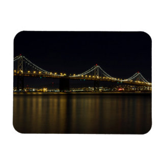 Bay Bridge in San Francisco at Night Magnet