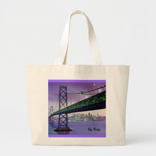Bay Bridge Jumbo Tote Bag