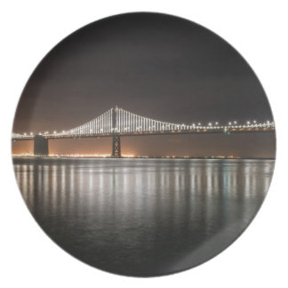 Bay Bridge Melamine Plate