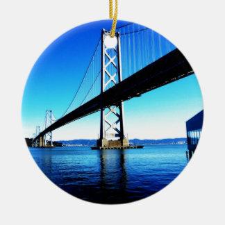 Bay Bridge Northern California San Francisco Ceramic Ornament