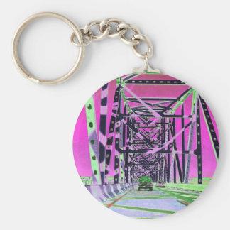 bay bridge (re-colored digital photo) keychain