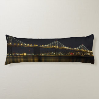 Bay Bridge San Francisco at Night Body Pillow
