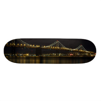 Bay Bridge San Francisco at Night Skateboard