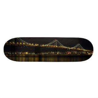 Bay Bridge San Francisco at Night Skateboard