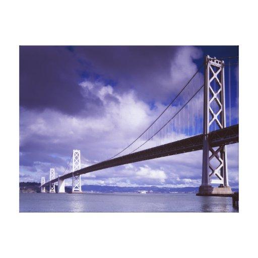 Bay Bridge San Francisco,Ca-Stretched Canvas Print