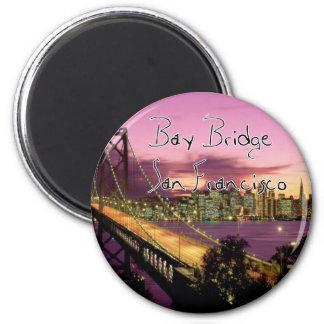 Bay Bridge, San Francisco, California 2 Inch Round Magnet