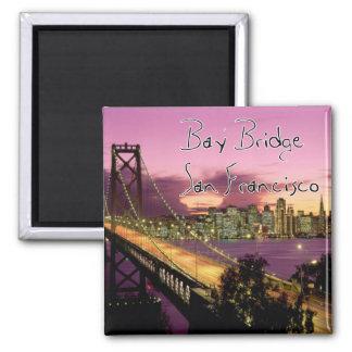 Bay Bridge, San Francisco, California 2 Inch Square Magnet