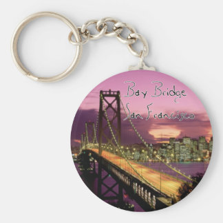 Bay Bridge, San Francisco, California Basic Round Button Keychain