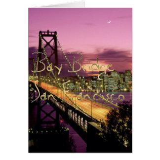 Bay Bridge, San Francisco, California Card