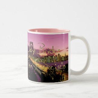 Bay Bridge, San Francisco, California Two-Tone Coffee Mug