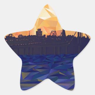 Bay Bridge Star Sticker