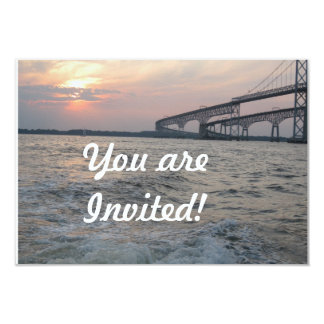 Bay Bridge Sunset Invitation