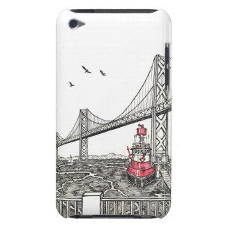 Bay Bridge with Firefighter Tugboat iPod Touch Cover