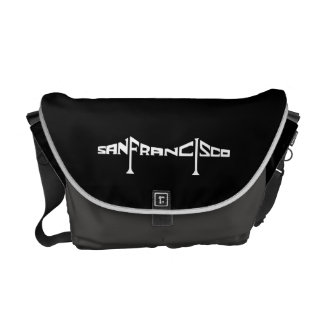 Bay Bridged Messenger Bag (Black and Gray)