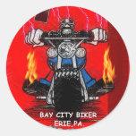 BAY CITY BIKER   (STICKERS)