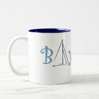 bay city michigan boating Two-Tone coffee mug