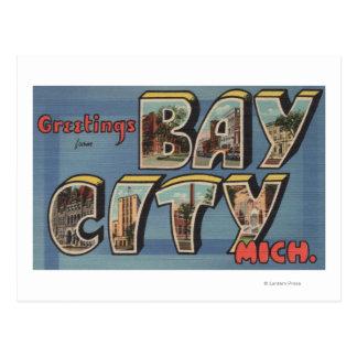 Bay City, Michigan - escenas grandes de la letra Tarjetas Postales