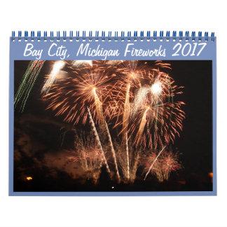 Bay City, Michigan Fireworks (2017) 2018 Calendar