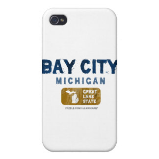 Bay City Michigan Great Lake State iPhone 4 Case