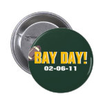 BAY DAY! - Green Bay Football Pinback Buttons