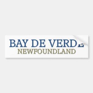 Bay De Verde newfoundland Car Bumper Sticker
