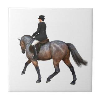 Bay Dressage Horse Tile