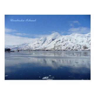 Bay en invierno, isla de capitán de Unalaska Postales