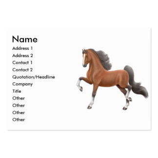 Bay Gaited Horse Business Card