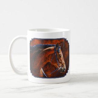 Bay Hanoverian Horse Classic White Coffee Mug