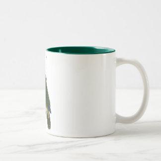 Bay-Headed Parrot by Edward Lear Two-Tone Coffee Mug