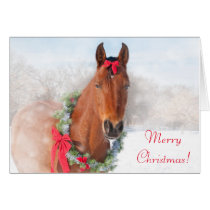 Bay Horse Christmas Card