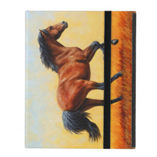 Bay Horse Galloping iPad Folio Case