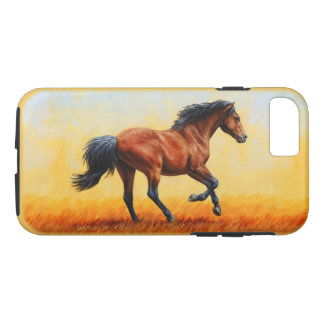 Bay Horse Galloping iPhone 7 Case