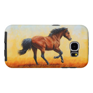 Bay Horse Galloping Samsung Galaxy S6 Case