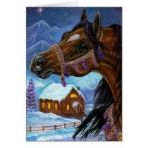 BAY HORSE Holiday Note Card