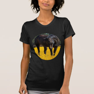 Bay Horse in a Field of Yellow Flowers Tshirt