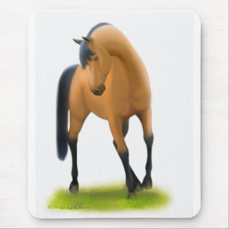 Bay Horse in Pasture Mouse Pad