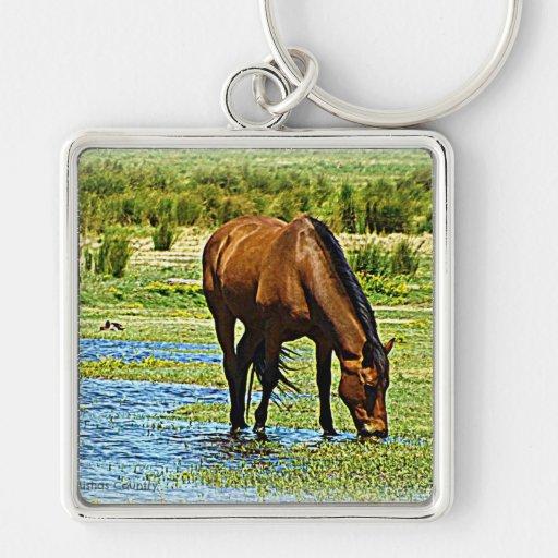 Bay Horse Keychain