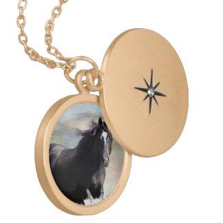 Bay Horse Locket Necklace