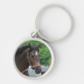 Bay Horse Lunging Keychain