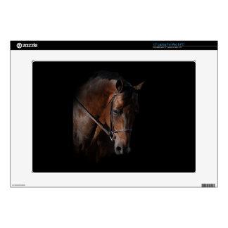 """Bay Horse on Black 15"""" Laptop Skins"""