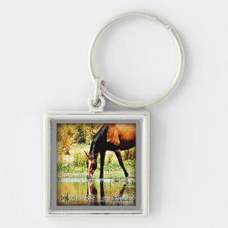 "Bay Horse ""Reflections"" Keychain"