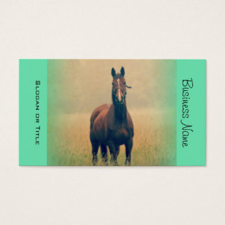 Bay Horse Standing in a Field Business Card